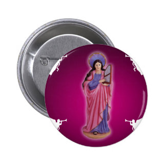 SANTA CECILIA CUSTOMIZABLE PRODUCTS PINBACK BUTTONS
