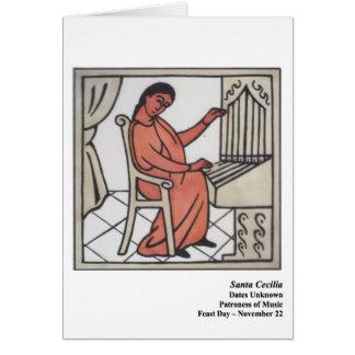 Santa Cecilia Santo Card