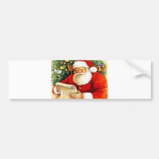 Santa Checking His List Bumper Sticker