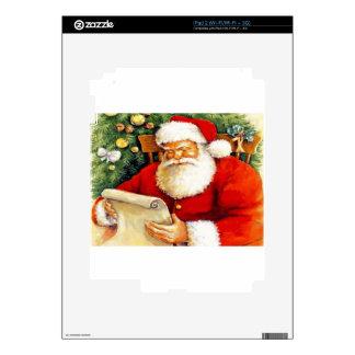Santa Checking His List Skin For iPad 2