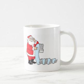 Santa Checking List Coffee Mug