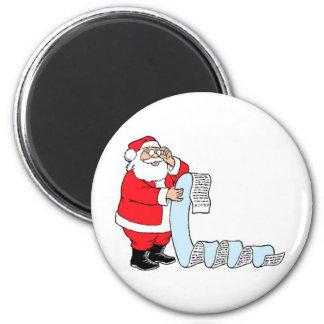 Santa Checking List Magnet