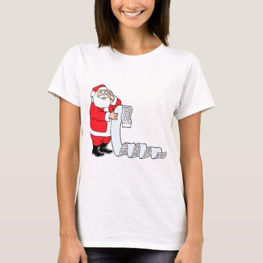 Santa Checking List T-Shirt