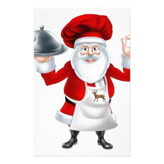 Santa Chef Christmas Dinner Concept Stationery