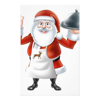 Santa Chef Christmas dinner Stationery
