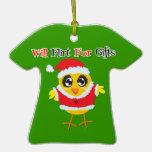 Santa Chick Flirt Christmas Ornament