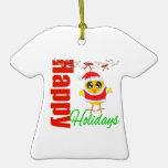 Santa Chick - Happy Holidays Ornament