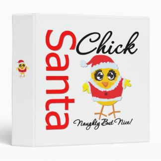Santa Chick Naughty But Nice Chick v2 Vinyl Binders
