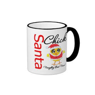 Santa Chick Naughty But Nice Ringer Coffee Mug
