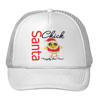 Santa Chick Naughty But Nice Trucker Hat
