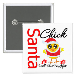 Santa Chick Will Flirt For Gifts v2 Button