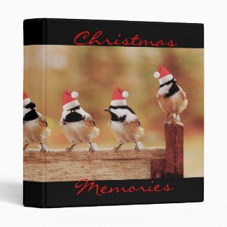 Santa Chickadees 1 Photo Album Vinyl Binder