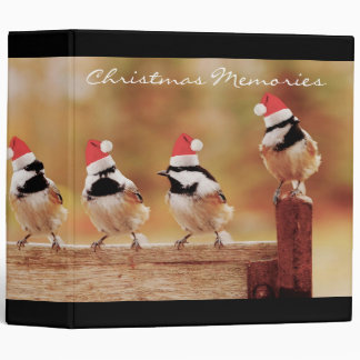 Santa Chickadees 2 Photo Album 3 Ring Binder