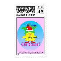 ♫♥Santa-Chicken Fun Christmas Stamp♥♪ Postage