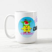 ♫♥Santa Chicken Fun White Classic Mug♥♪ Coffee Mug