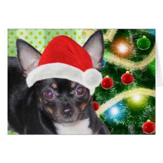 Santa Chihuahua Mickey Angel Merry Christmas Card Greeting Card