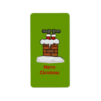 Santa chimney label