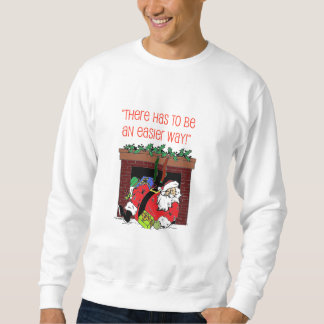 Santa Chimney Mishap Christmas Sweatshirt