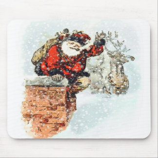 Santa Chimney Mousepad