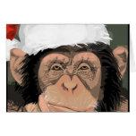 Santa Chimp Greeting Cards