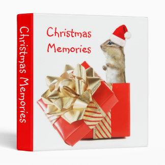 "Santa Chipmunk 1"" Photo Album Binder"
