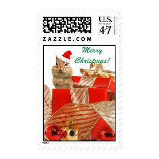 Santa Chipmunk Stamp