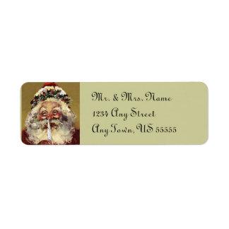 Santa Christmas Address Labels