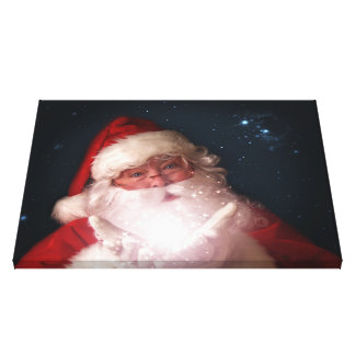 Santa Christmas Canvas Art