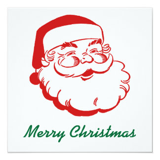 "Santa Christmas Card 5.25"" Square Invitation Card"