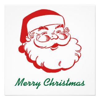 Santa Christmas Card Personalized Invites