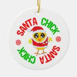 Santa Christmas Chick Christmas Tree Ornament