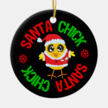 Santa Christmas Chick Ornaments