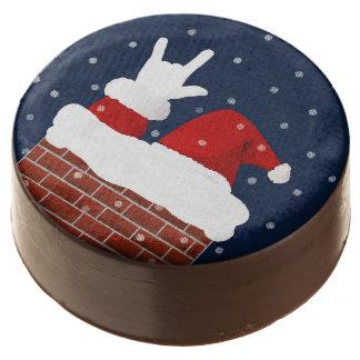 Santa Christmas Cookies w/ I Love You in ASL
