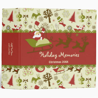 Santa Christmas Delivery - Customize Binder