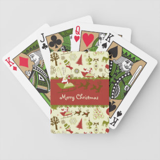 Santa Christmas Delivery Bicycle Playing Cards