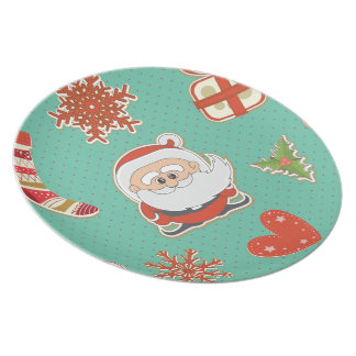 Santa Christmas Dinner Plate
