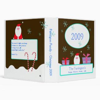 SANTA Christmas Family Holidays 2009 Photo Album Binder