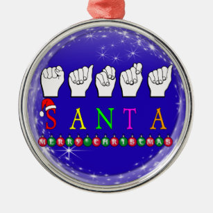 Sign Language Ornaments & Keepsake Ornaments | Zazzle