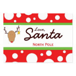 Santa Christmas Gift Tag Large Business Cards (Pack Of 100)
