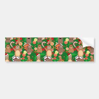 Santa christmas gopher bumper sticker