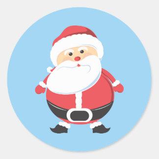 Santa Christmas Happy Holiday Classic Round Sticker