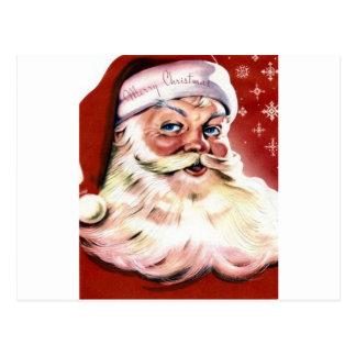 Santa Christmas HO Merry Joy Peace Seasons Jolly Postcard