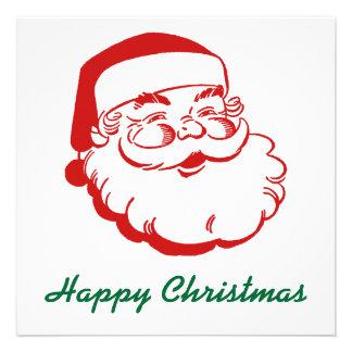 Santa Christmas Holiday Card Custom Invitation