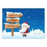 Santa Christmas Holiday Party Invitation Card