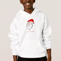 Santa Christmas Holiday Season Greetings Joy Peace Hoodie