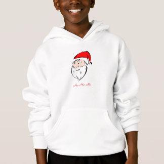 Santa Christmas Holiday Season Greetings Joy Peace Hoodie