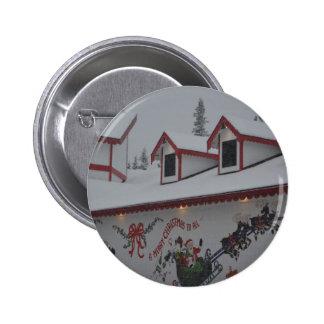 Santa Christmas Holiday Snow Snowflake Frozen Ice Pinback Button