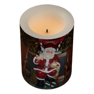 Santa Christmas LED Candle