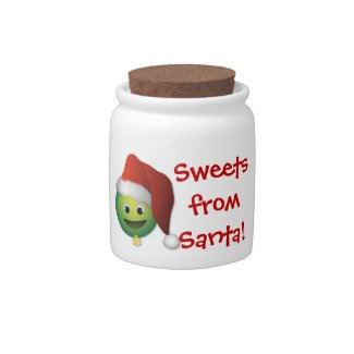 Santa Christmas Ornament Candy Jar