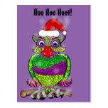 Santa Christmas Owl Hoot Postcard